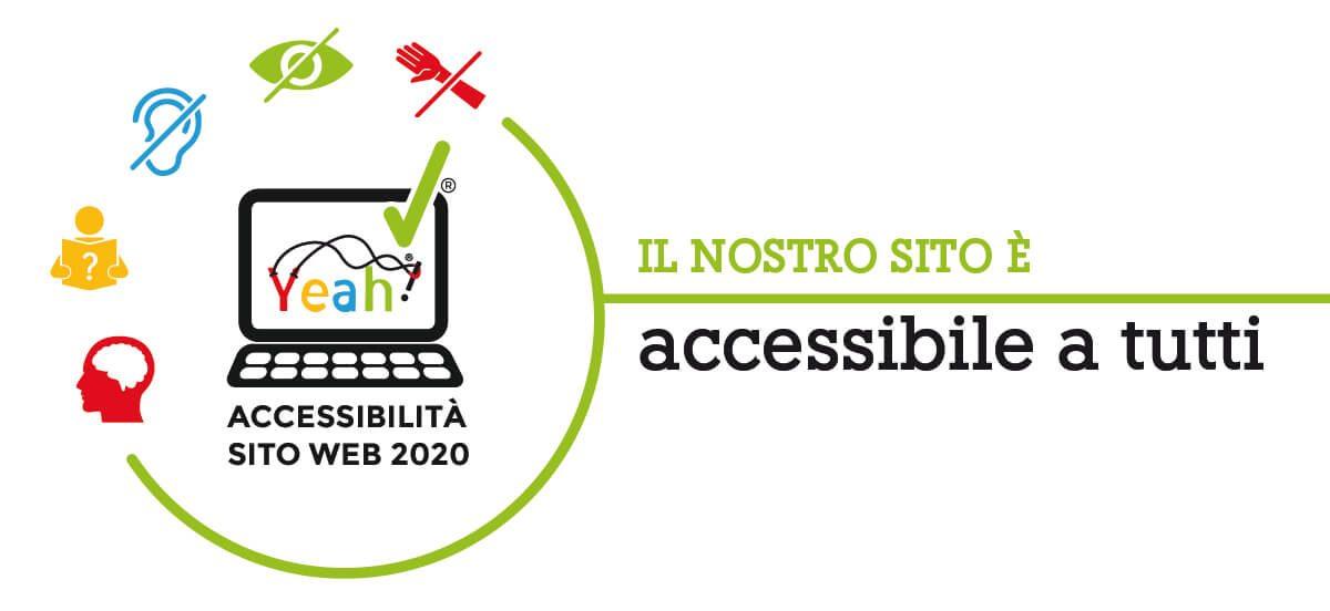 logo che comunica che il sito è accessibile a tutte le persone disabilità