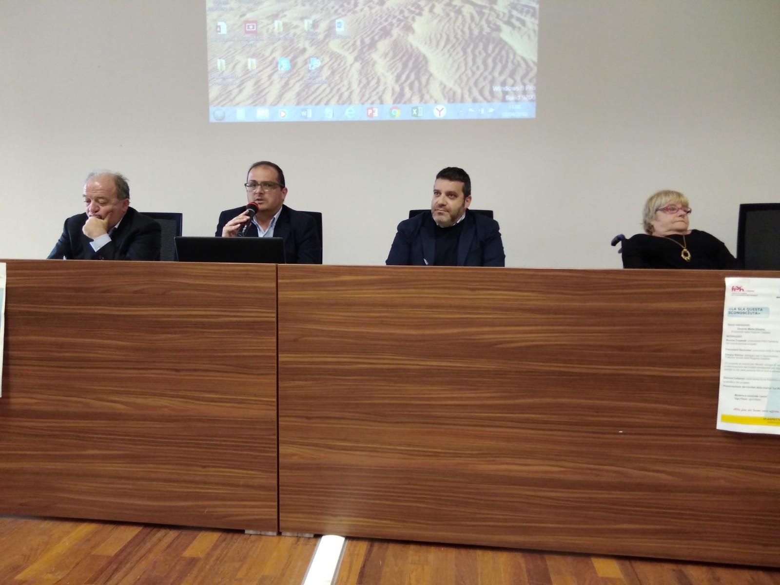 Foto della presentazione della ricerca nella Sala gialla della Regione Calabria